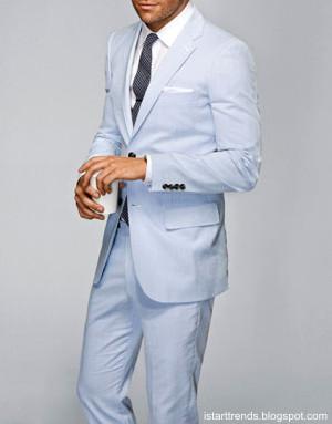 Açık Mavi Takım Elbise