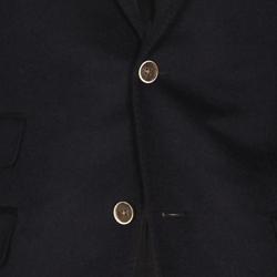Lacivert ceket - kahverengi düğme