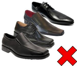 Yanlış ayakkabı modelleri