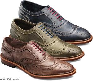 Kahverengi-lacivert-yeşil ayakkabı