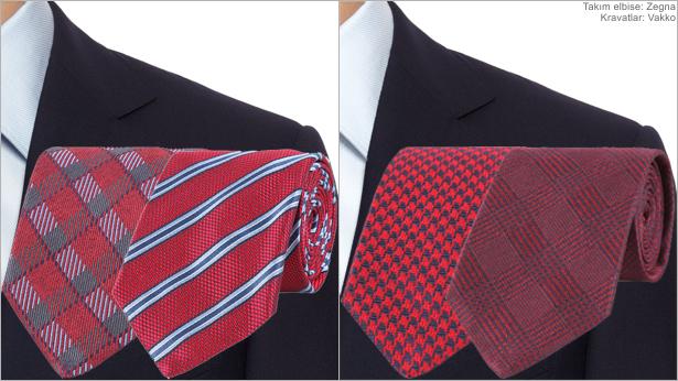 Renk Kombinasyonu - Lacivert, Kırmızı & Bordo