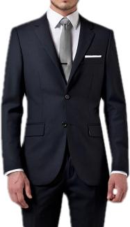 Lacivert Takım Elbise, Beyaz Gömlek, Gri Kravat